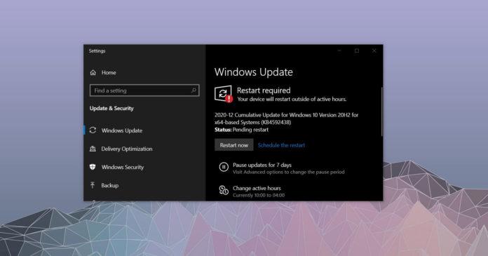 Windows 10 December 2020 update