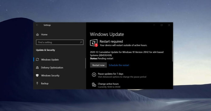 Windows 10 KB4592438
