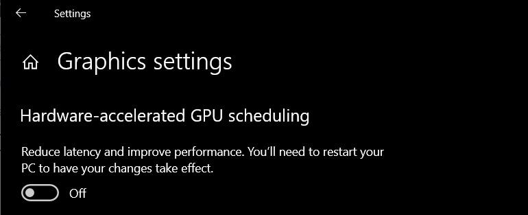 Windows 10 accelerated GPU