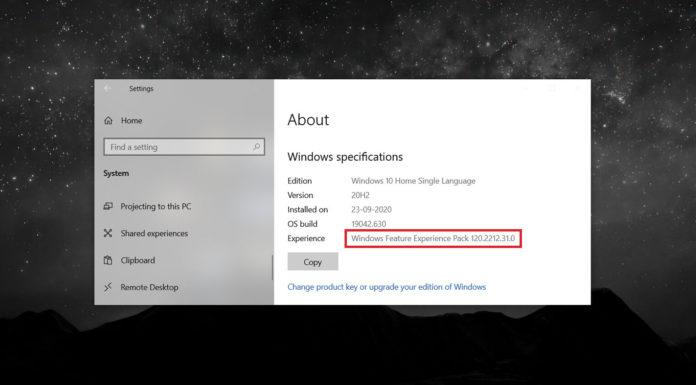 Windows 10 feature packs
