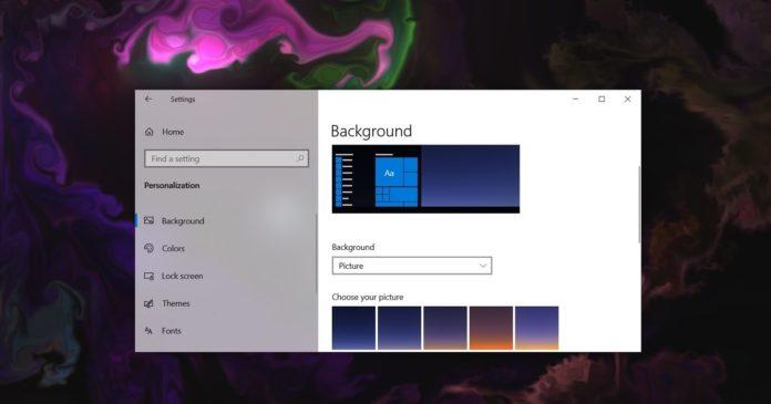 Fond d'écran animé Windows 10