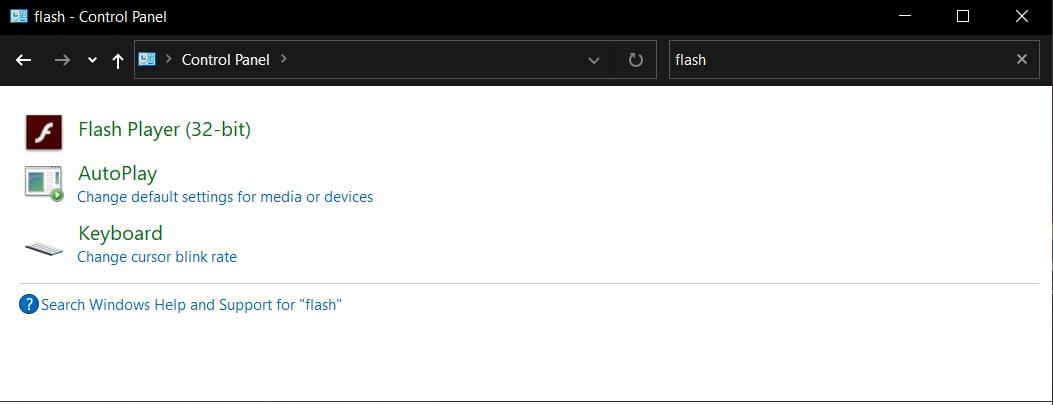 Adobe Flash Player Windows 10 Microsoft
