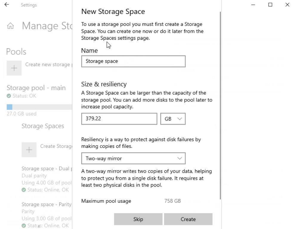 New Storage Space