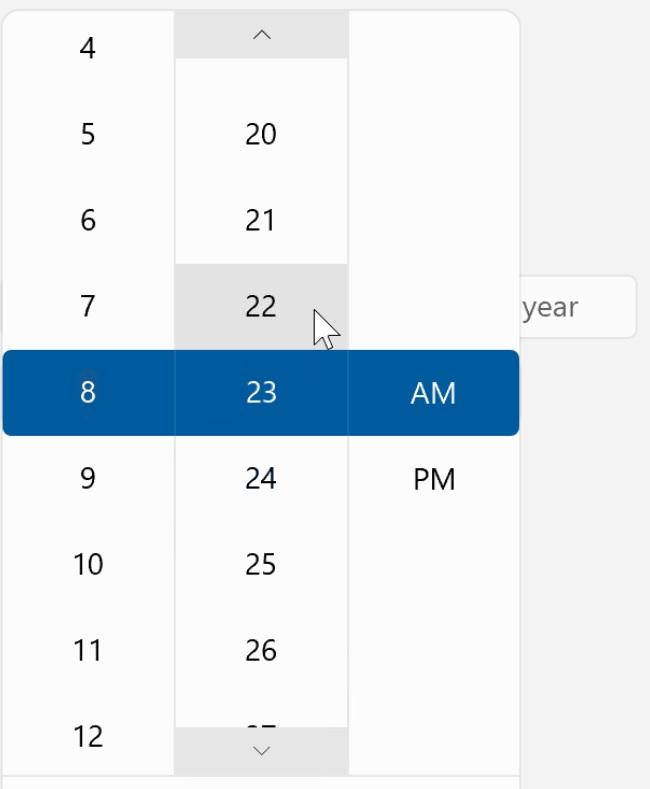 Windows 10 flyout menu