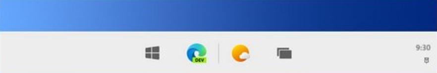 Windows 10X taskbar