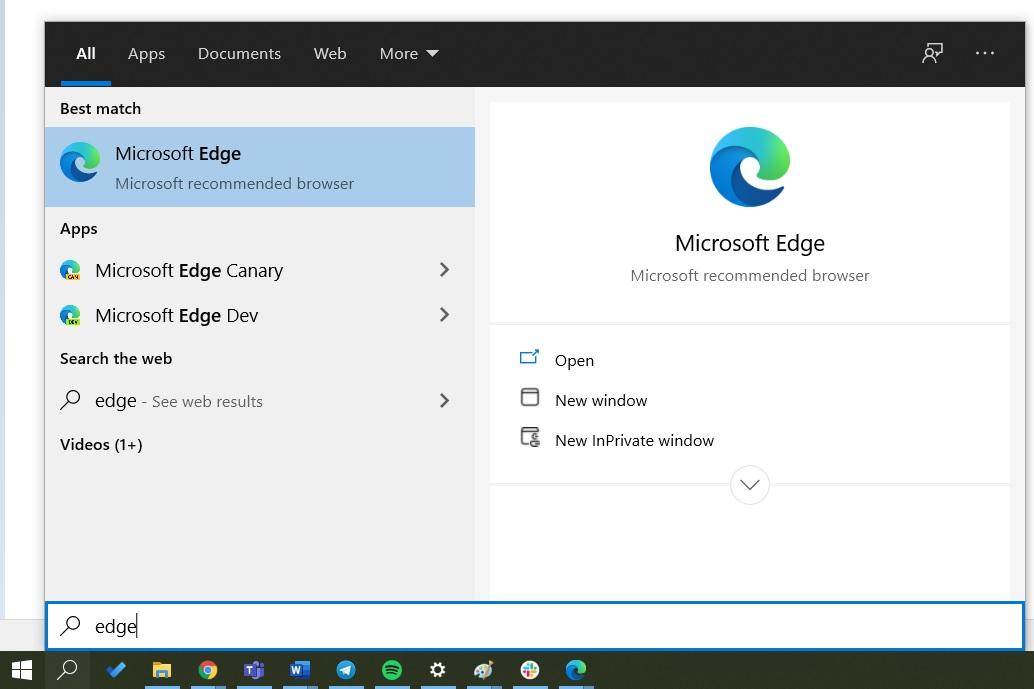 Microsoft Edge removed