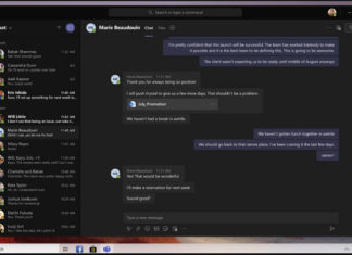 Microsoft Teams dark UI