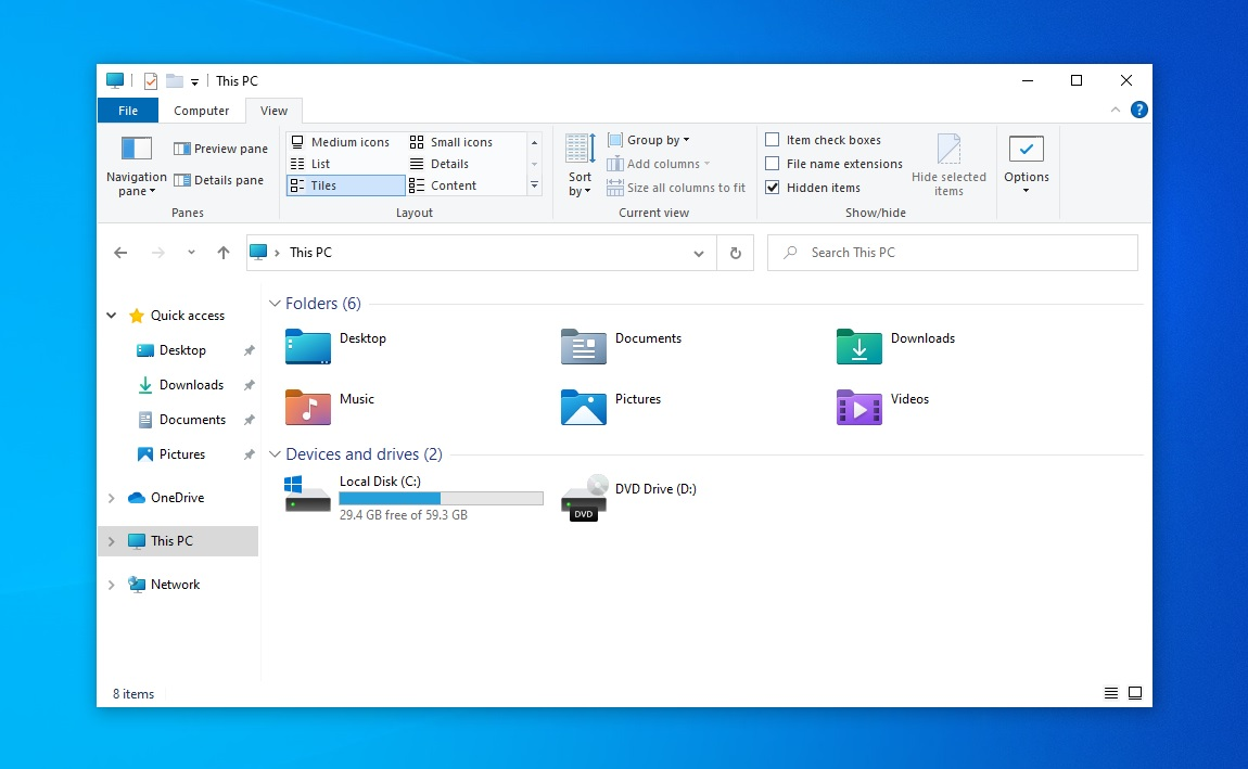 New File Explorer interface
