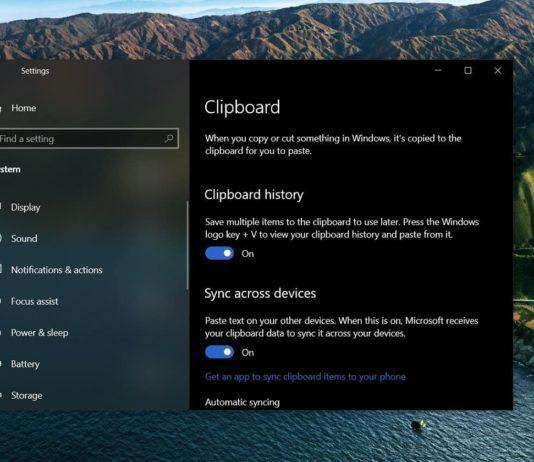 Windows 10 Clipboard UI