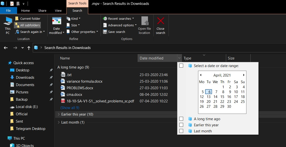 File Explorer bug fixed
