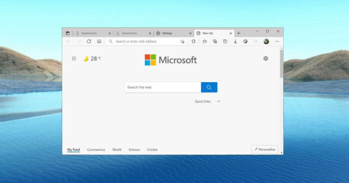 Microsoft Edge font rendering