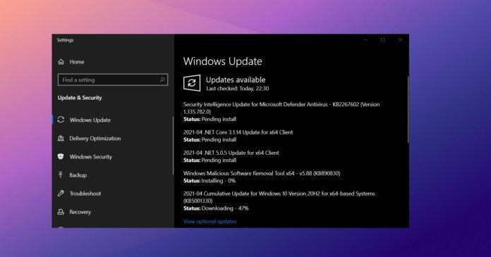 Windows 10 KB5001330