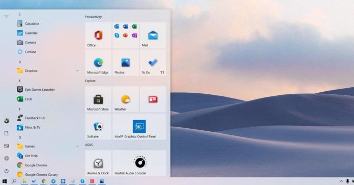 Windows 10 Sun Valley update
