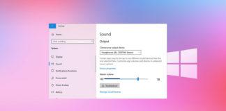 Windows 10 sound settings