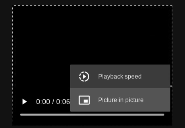 Chrome playback controls