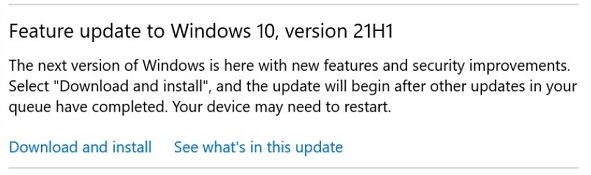 Download Windows 10 May 2021 Update