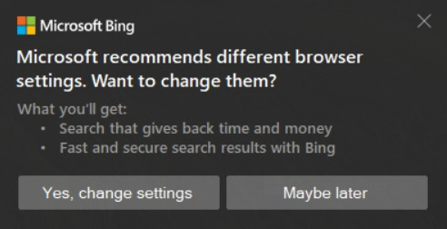 Microsoft Bing ad