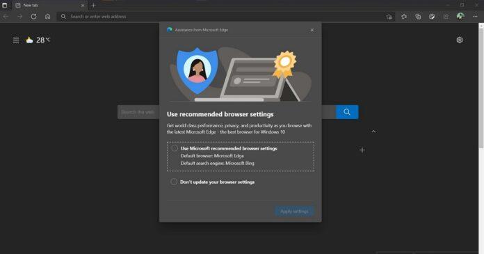 Microsoft Edge nagging