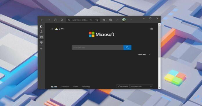 Microsoft Edge vertical tabs update