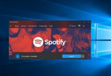 Spotify Windows 10 app