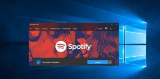 Spotify Windows 10 app