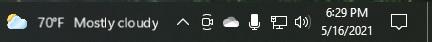 Taskbar feed blurry