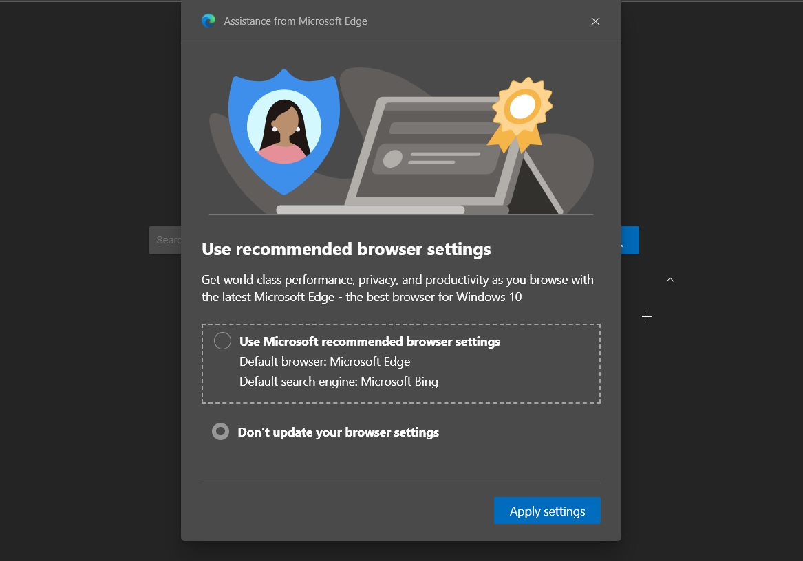 Use recommended browser settings