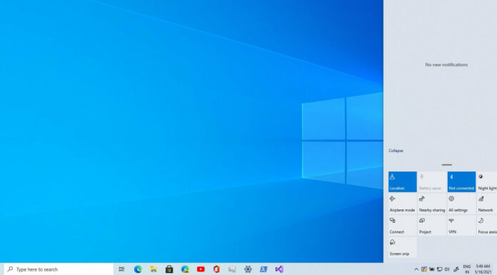 Windows 10 Action Center upgrade