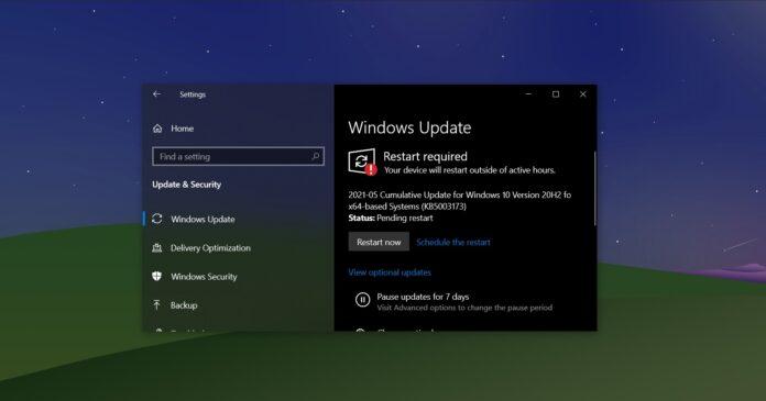 Windows 10 KB5003173