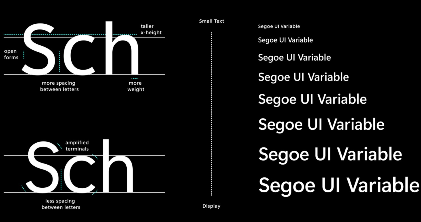 Windows 10 new font UI