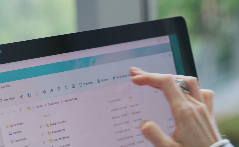 File Explorer toolbar