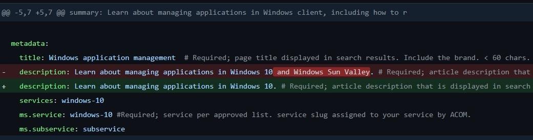 Microsoft doc on Github