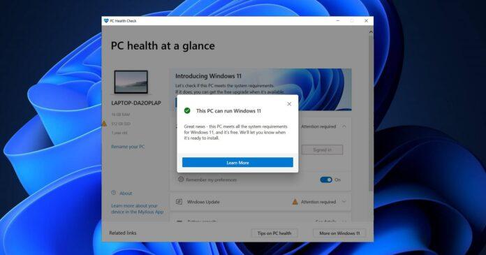 This PC can't run Windows 11 error