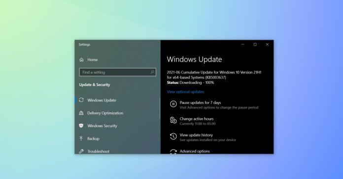 Windows 10 June 2021 Update