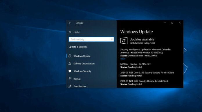 Windows 10 version 21H1 update