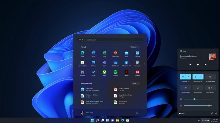 Windows 11 Action Center quick actions