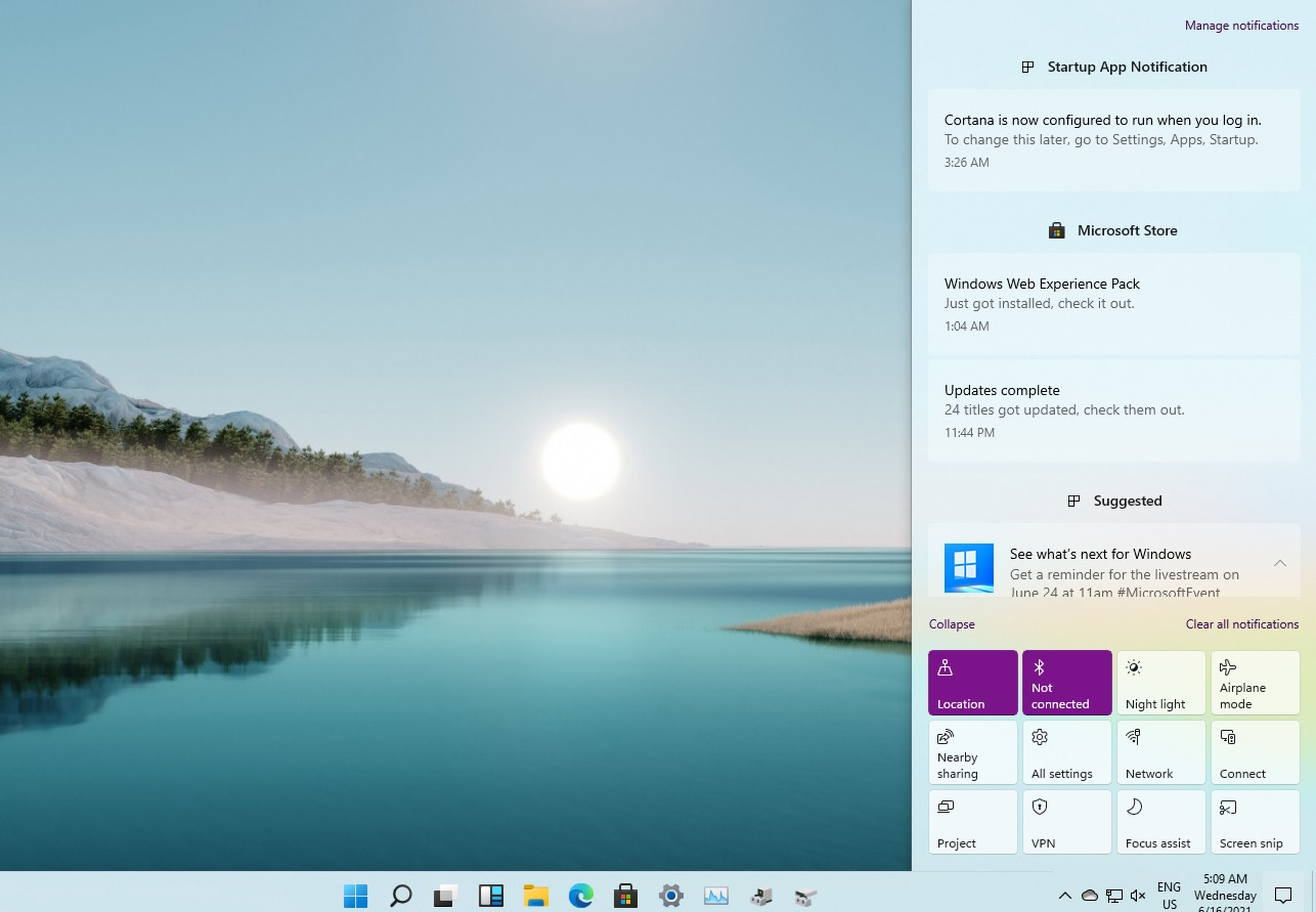 Windows 11 Action Center