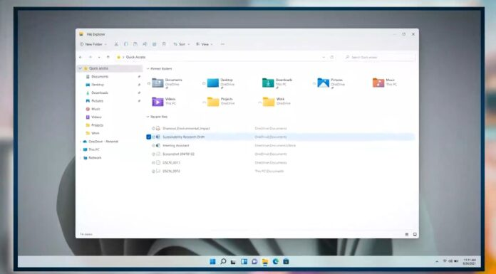 Windows 11 File Explorer UI
