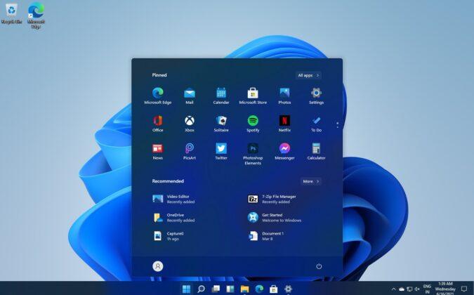 Windows 11 Start Menu dark mode