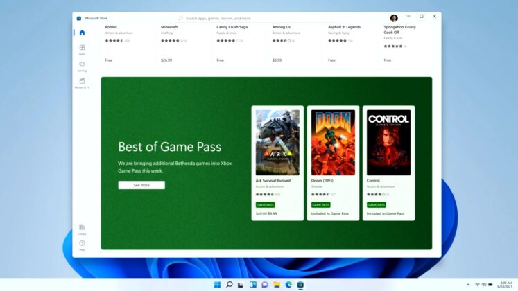 Windows 11 Store layout