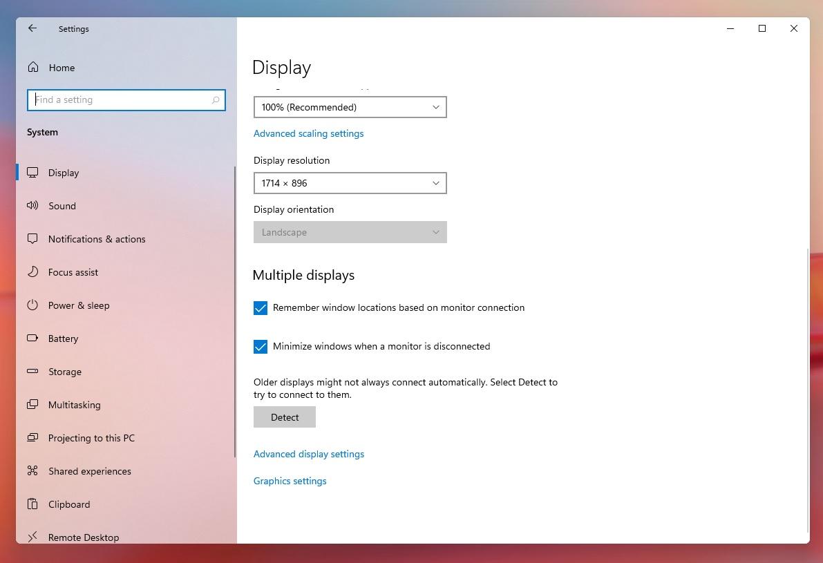 Windows 11 display settings