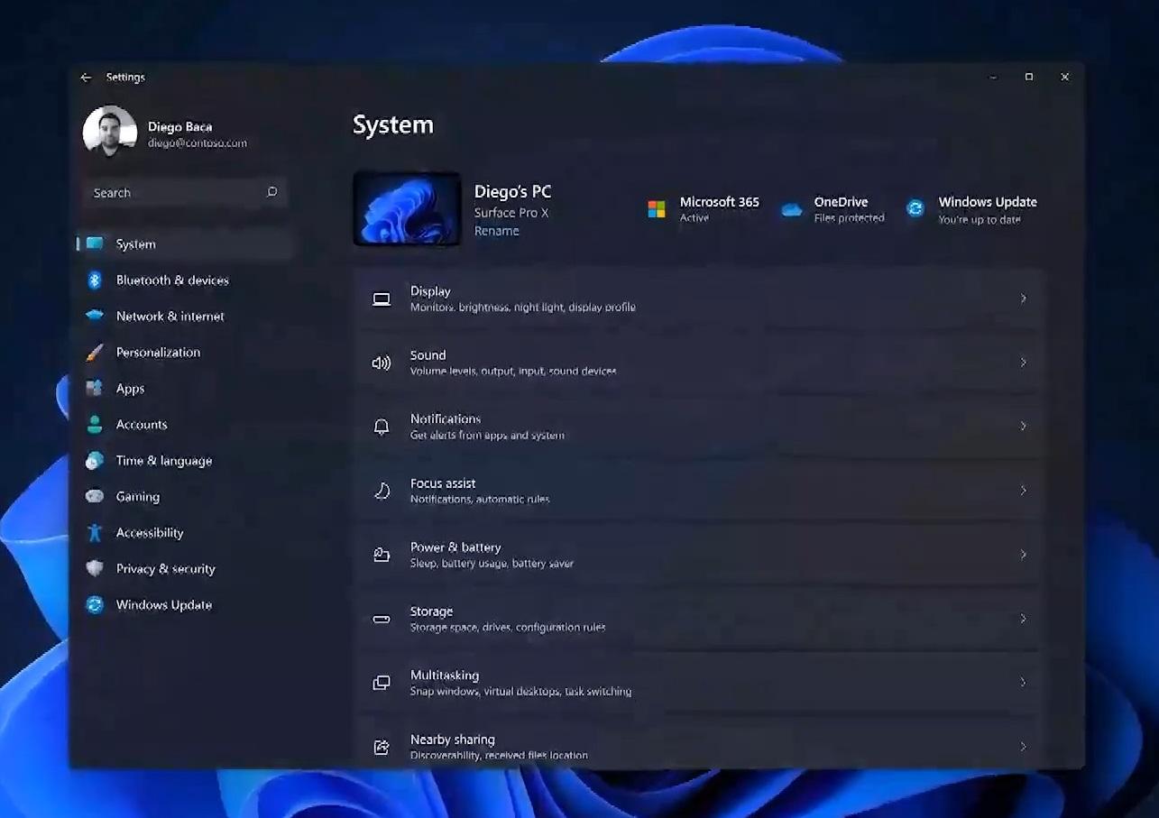 Windows Settings app update