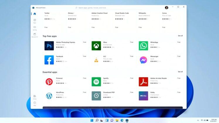 Windows Store layout