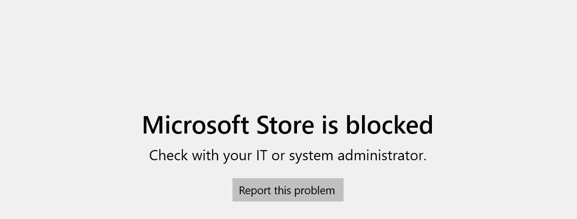Windows Store on Windows 11 SE
