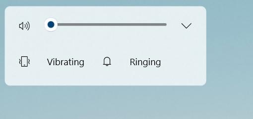 Windows volume flyout