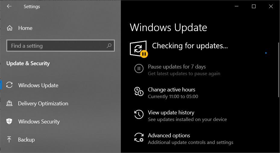 July 2021 Windows Update