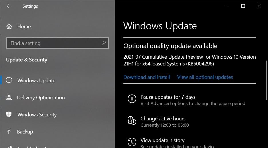 KB5004296 update