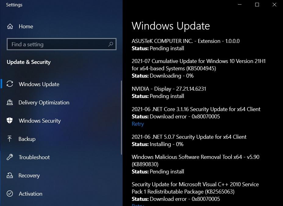 KB5004945 update