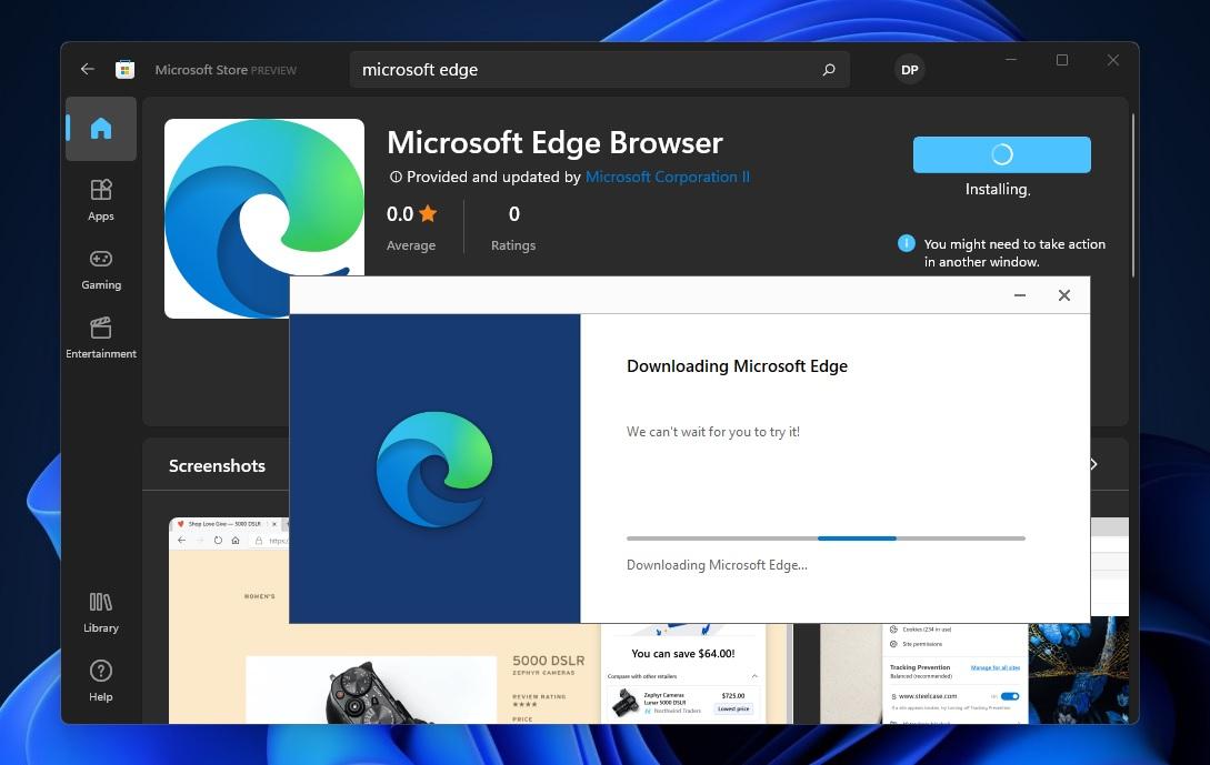 Microsoft Edge in Store