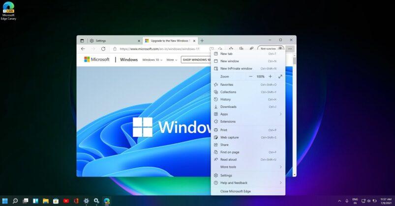 Microsoft Edge light mode